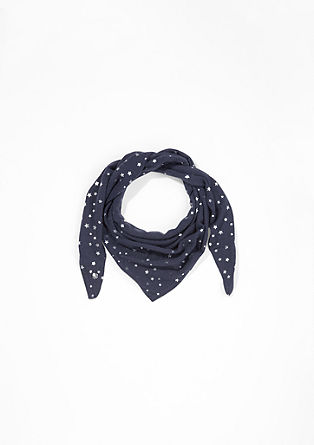 Knit neckerchief with a print from s.Oliver