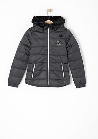 Taillierte Winterjacke mit Patches