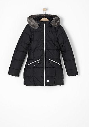 Taillierter Mantel mit Plüschfutter
