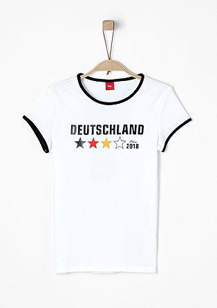 T-Shirt mit Fußball-Print