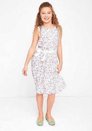 Millefleurs-Kleid mit Bindeschleife