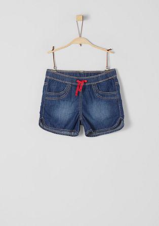 Shorts aus Light Denim