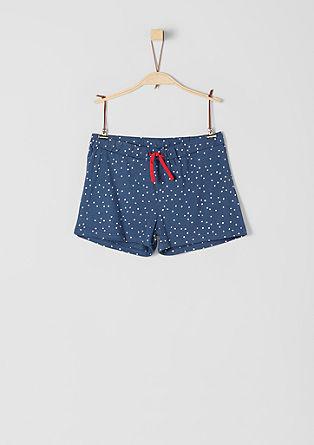 Musterprint-Shorts aus Jersey