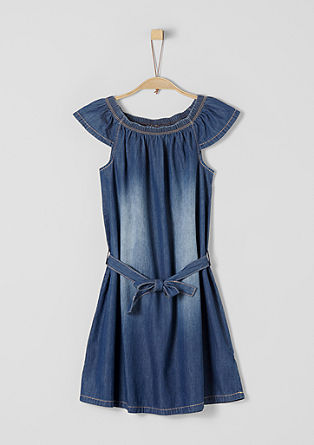 Kleid aus Light Denim
