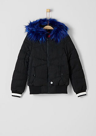 Functional jacket with faux fur from s.Oliver