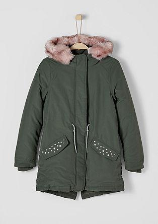 Dekorierter Mantel mit Fake Fur