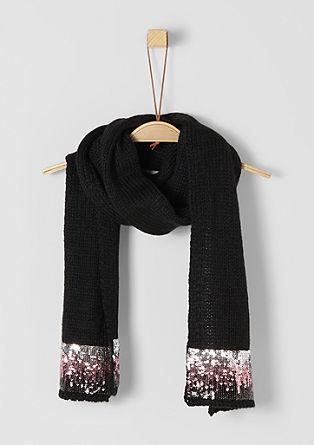 Langer Schal mit Pailletten