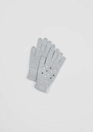 Gebreide handschoenen met sierlijke beads