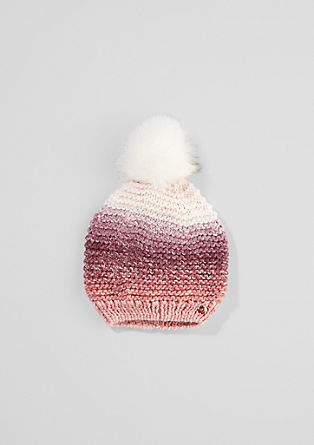 Gefütterte Mütze mit Farbverlauf