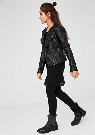 Rock-style biker jacket in faux leather from s.Oliver