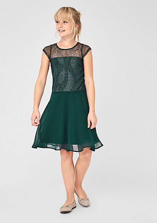 Dress with delicate lurex lace from s.Oliver