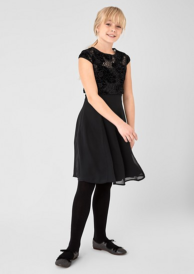 2-in-1 chiffon dress with a lace top from s.Oliver