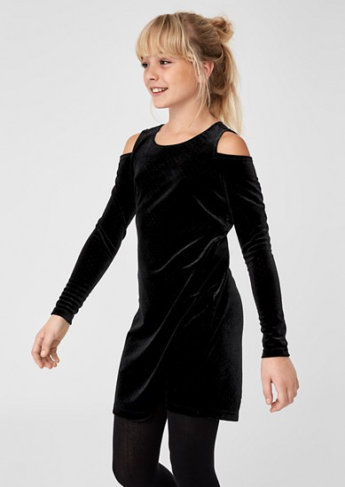 Velvet cold-shoulder dress from s.Oliver