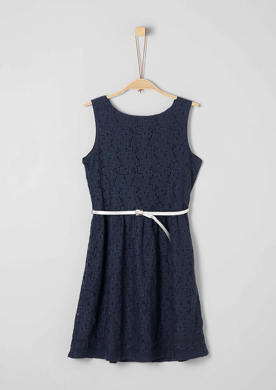 4cf2ba7634f3c5 Kanten jurk met glinsterende ceintuur bestellen
