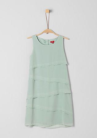 Chiffon-Kleid mit Schmuckperlen