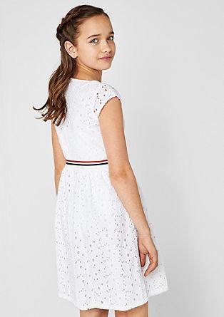 Elegantna obleka iz luknjičaste čipke