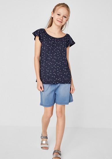 Shorts mit Paperbag-Bund