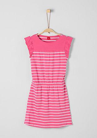 Gestreiftes Kleid aus Jersey
