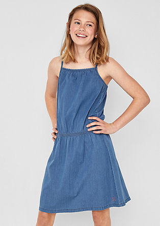 Jurk met denim look