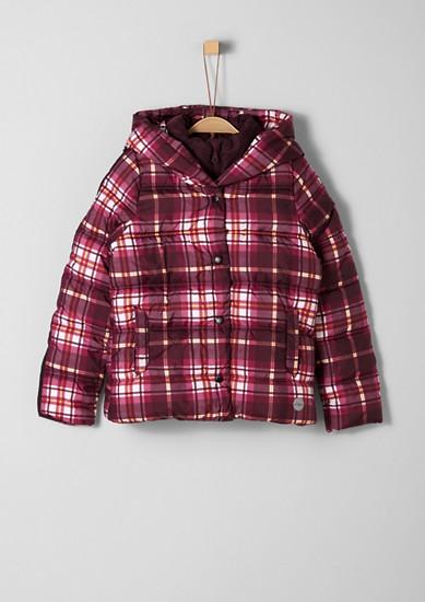 Karierte Puffer Jacket