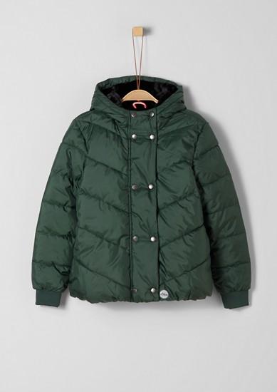 Winterjas met een voering van imitatiebont