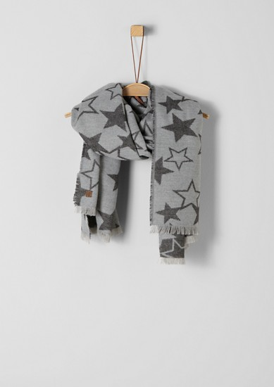 Soft scarf with a star pattern from s.Oliver