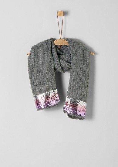 Knit scarf with sequins from s.Oliver
