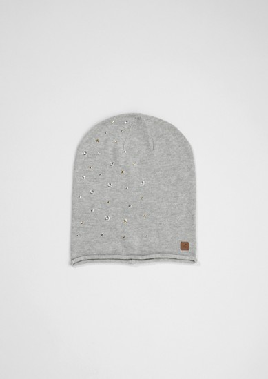 Beanie with appliqués from s.Oliver