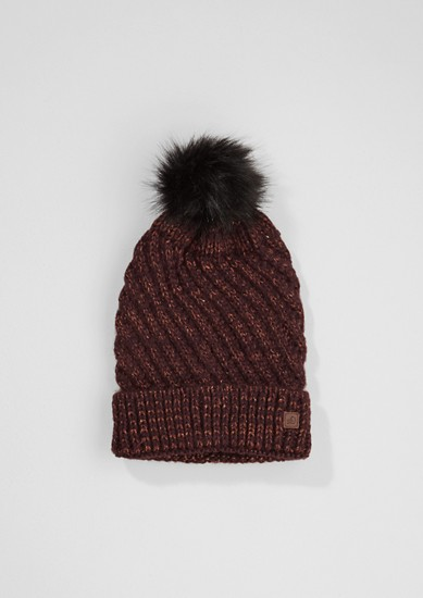 Knit hat with a pompom from s.Oliver