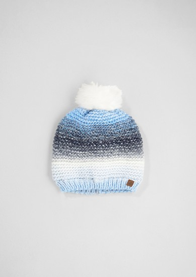 Textured knit pompom hat from s.Oliver