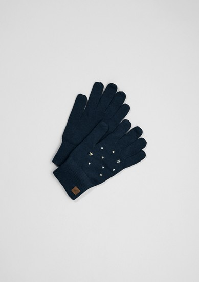 Knit gloves with appliqués from s.Oliver