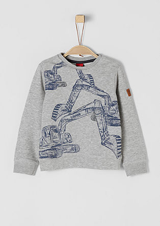 Sweatshirt with a digger print from s.Oliver