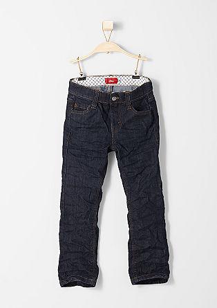 Pelle: Jeans mit Sitzfalten-Effekten