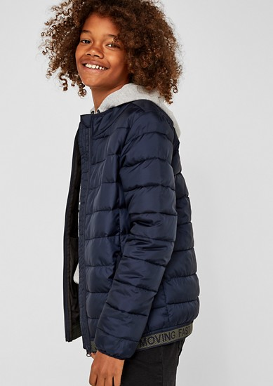 Quilted jacket with a logo waistband from s.Oliver