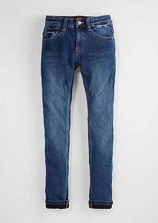 Skinny Seattle: denim tracksuit bottoms from s.Oliver