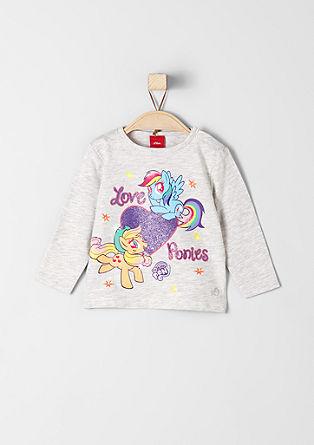 Langarmshirt mit Pony-Druck