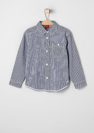 Shirt with gingham checks from s.Oliver