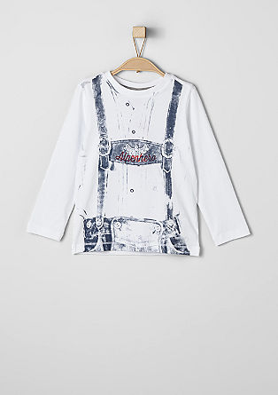 Long sleeve top with a lederhosen design from s.Oliver