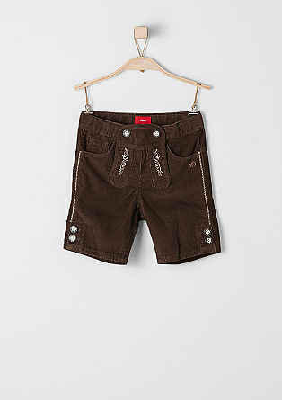 Corduroy shorts in a traditional design from s.Oliver