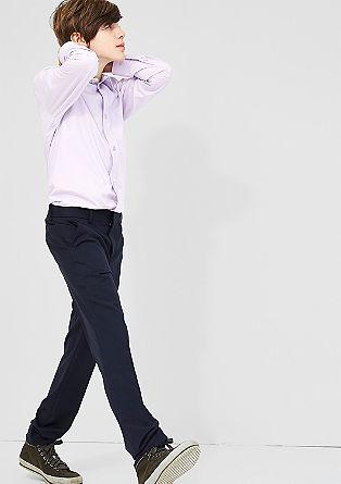 Effen overhemd in smal model