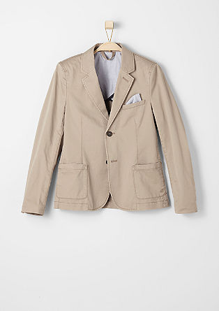 Elegant tailored twill jacket from s.Oliver