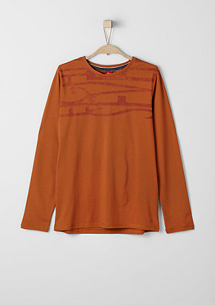 Long sleeve top with a subtle print from s.Oliver
