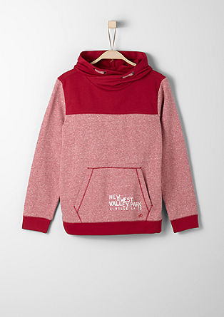 Hoodie with a melange finish from s.Oliver
