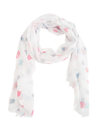 Scarf with a feel-good print from s.Oliver