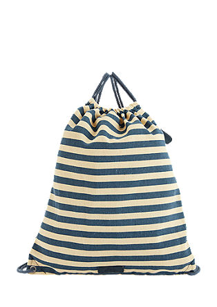 Nautical cotton rucksack from s.Oliver