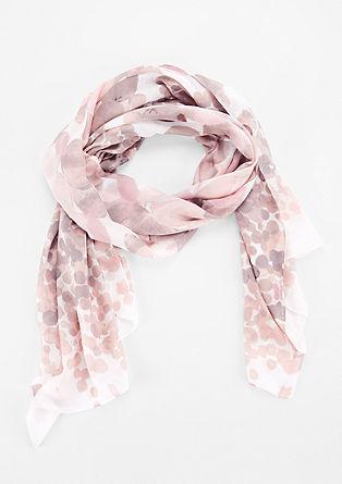 Schal mit Batik-Tupfen