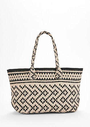 Jute shopper with pattern from s.Oliver