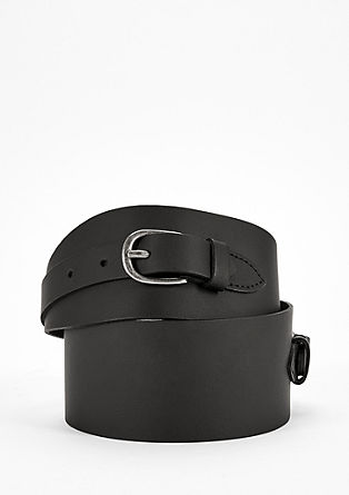 Wide leather waist belt from s.Oliver