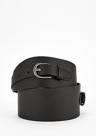 Breiter Taillen-Gürtel aus Leder