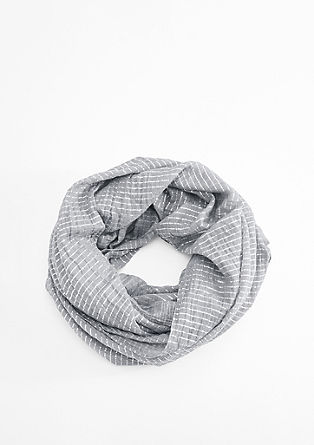 Snood with glitter stripes from s.Oliver